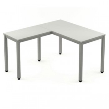 Ala mesa para serie Executive 60x60x72-77 cm aluminio/gris