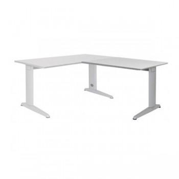 Ala mesa para serie Metal 100x60cm. aluminio/gris