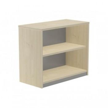 Armario librería 1 estante 90x78x45cm. aluminio/haya