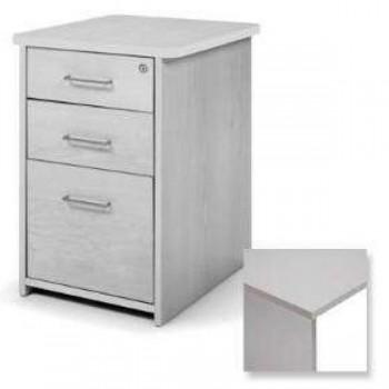 Buck 2 cajones + 1 cajón archivo 47x72x60cm. aluminio/gris