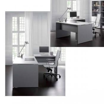 Ala rectangular serie Premier estructura melamina color blanco encimera blanca 100x60x75cm.