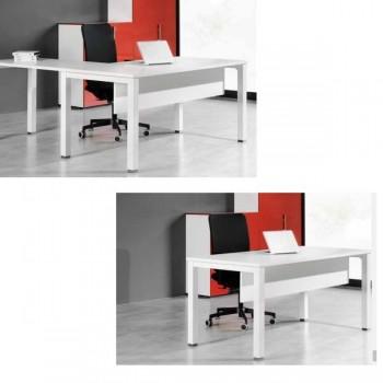 Faldón laminado para mesa serie Nova de 140cm color blanco 131x30cm.