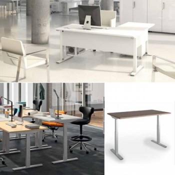 Ala de 60cm para mesa rectangular serie Iog in encimera blanca 120x60x75cm.