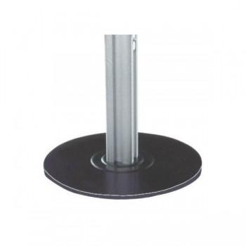 Pie soporte redondo para mampara modular 190x30cm
