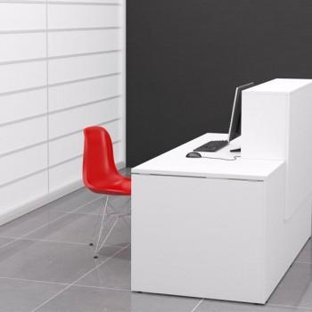 Mesa mostrador serie New Pano color blanco 140x80x75cm
