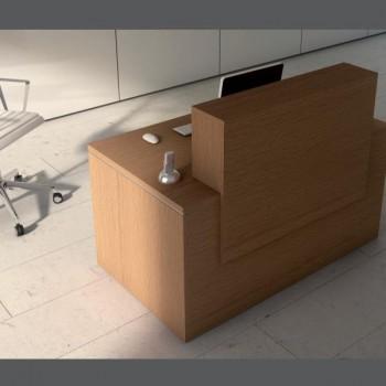 Mesa mostrador serie New Pano color roble 80x80x75cm
