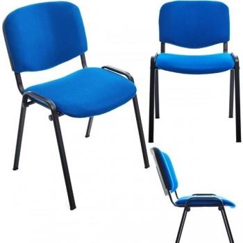 Silla confidente Class sin brazos tapizado 1 color azul