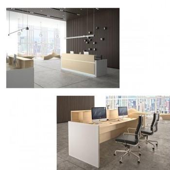 Ofitres Frontal decorativo serie Avant color blanco para mostrador 160cm