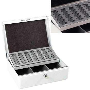 Caja de caudales euro 30X10X23cm blanco