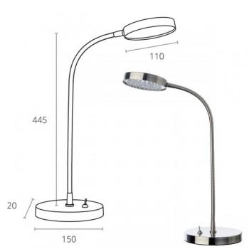Lámpara articulada leds Sálvora 3,3W cromo