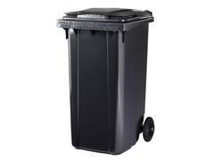 Contenedor basura 2 ruedas de goma 240 l gris