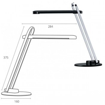 Lámpara led Firenze 6w. diseño robusto base metálica color negro