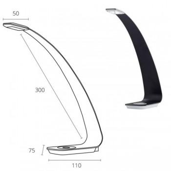 Lámpara led Scala 3w. Diseño elegante curvado. 3 niveles de intensidad de luz, colores negro, malva,
