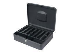 Caja caudales Q-Connect 250x180x90 mm con portamonedas negro