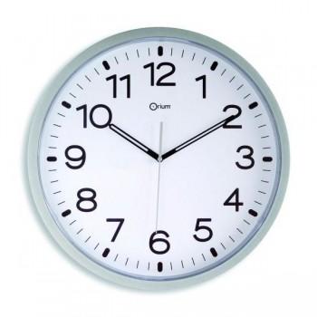 Reloj de pared de cuarzo de  40 cm plata