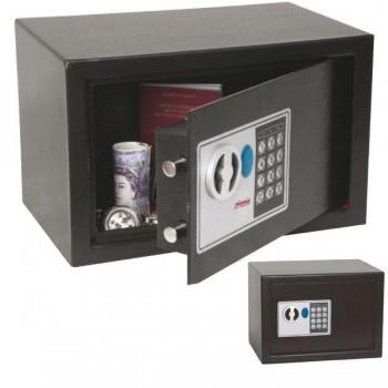 Caja de seguridad serie SS0720E. Cerradura digital. Capacidad 18l. 25 x 35 x 25 cm. Color negro