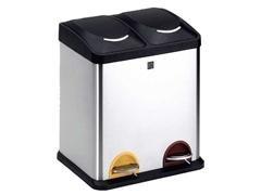 Cubo de reciclaje dos compartimentos 15 litros cada uno