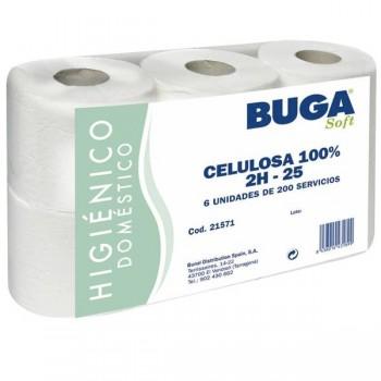 Buga Caja 6 bobinas secamanos reciclados Buga doble capa 150m.