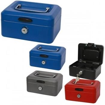 Caja de caudales con bandeja 20x9,5x15 color azul