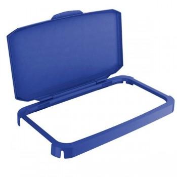 Tapa para contenedor Durabin 60 litros 45x56,5x29,5cm color azul