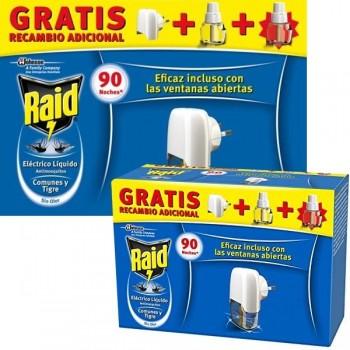 Raid Aparato eléctrico Raid anti-insectos + 2 recambios 45 noches
