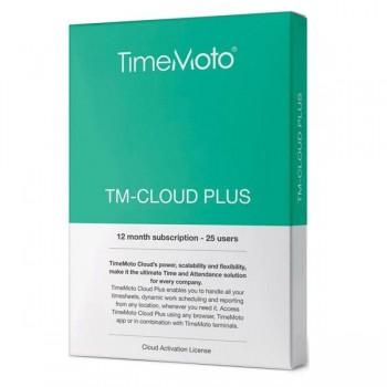Safescan Software TimeMoto Cloud plus. Suscripción 12 meses para 25 usuarios. Caja retail.
