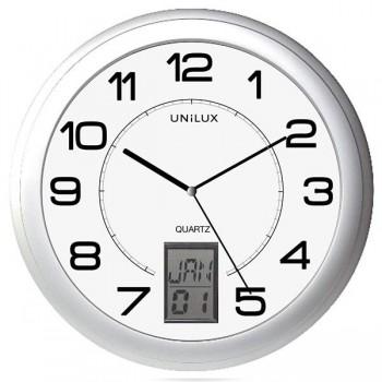 Unilux Reloj Instinct con ajuste hora automática diám. 30,5 cm gris metalizado