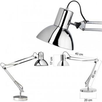 Unilux Lámpara Success 80 Chrome brazo doble articulado con base + pinza cromada