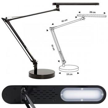 Unilux Lámpara Mamboled brazo doble articulado led 5,6W color negro