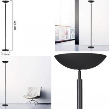 Unilux Lámpara de pie Dely con interruptor de intensidad negro