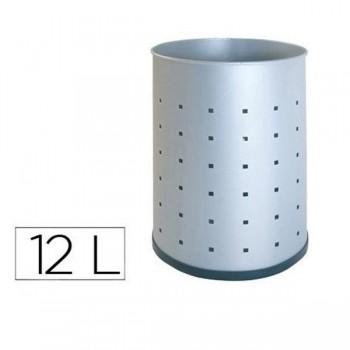 Sie Papelera perforada acero inoxidable 12 l. 31,5x 21,5 cm.