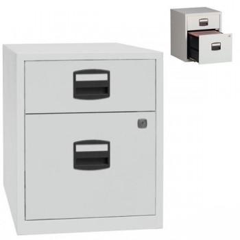 Cajonera metálica móvil 1 cajón 1 clasificador 41,3x52,1x40 cm