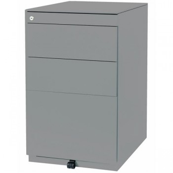 Cajonera fija 2 cajones + 1 cajón de archivo 420x698-731x565mm. Gris