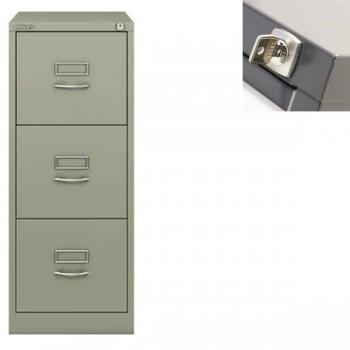 Archivador metálico BS Premium 3 cajones de archivo. A4. Tirador clásico cromado 413x1016x622xmm. Gr