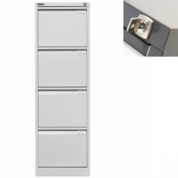 Archivador metálico BS Premium 4 cajones de archivo. A4. Tirador integrado 413x1321x622mm. Gris