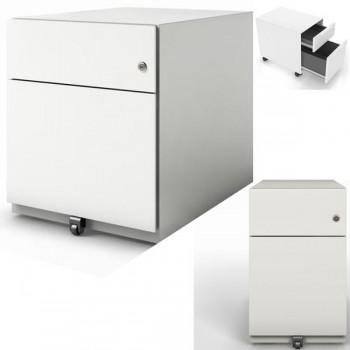 Cajonera móvil metálica 1 cajón + 1 cajón de archivo 420x495x565mm. Gris