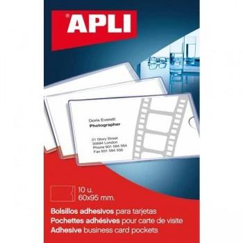 APLI Bolsillo portatarjetas 60x95 autoadhesivo (p6)
