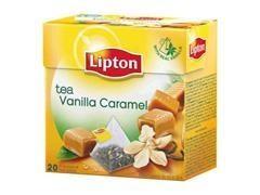 Caja 20 bolsas de té lipton vainilla y caramelo