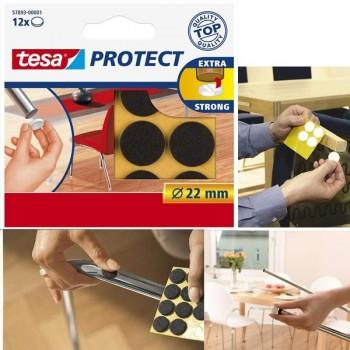 Fieltro Tesa antirasguño diametro  18mm, 16 unidades marrón