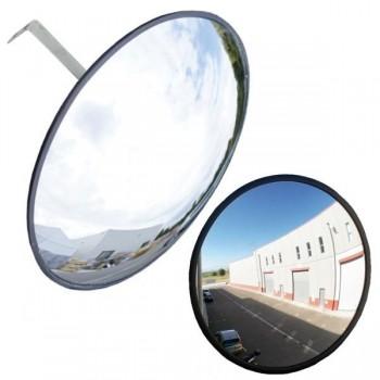 Espejo curvo sin visera  330 mm negro