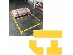Pack 10 símbolos adhesivos forma T color amarillo