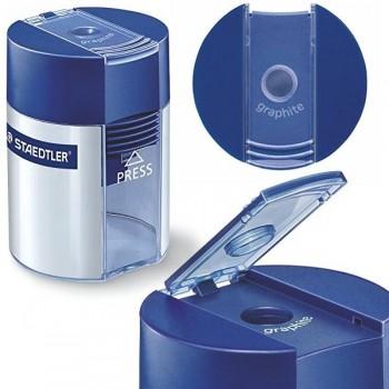 Afilalápices de plástico con deposito norissimple 8,2 mm azul