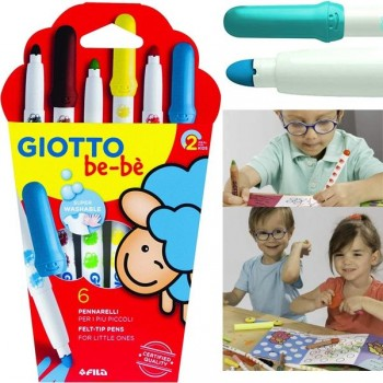 Estuche 6 super Rotuladores be-be giotto colores surtidos