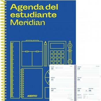 Agenda espiral secundaria o bachillerato meridian 144pag semana vista A5