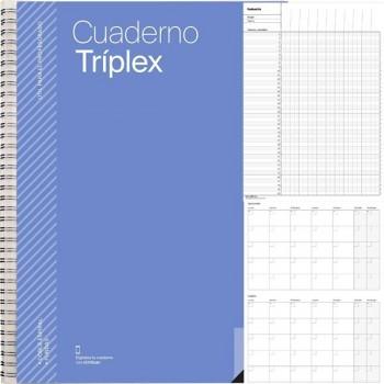 Cuaderno triplex plan mensual evaluacion Agenda tutoria reuniones y 6 Fundas