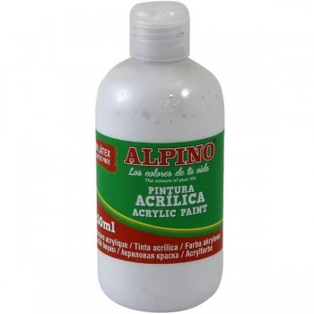 ALPINO Tempera liquida 250ml. acrilica BLANCO