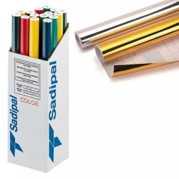 Rollo forro Libros autoAdhesivos 50 micras 0,50X3M oro brillo