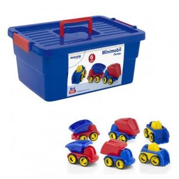 Caja 6 piezas  minimobil dumpy 3 modelos x 2 de cada