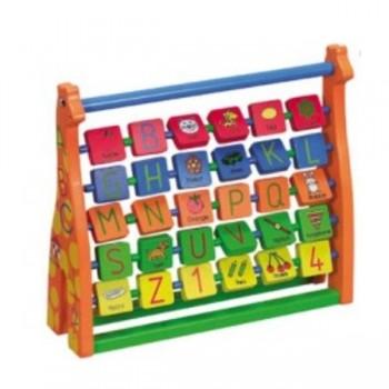 Abaco horizontal para aprender ingles 25x7x22cm