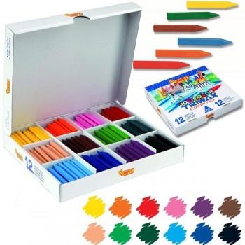 Estuche 300 ceras blandas jovicolor Classbox  triwax 12 colores